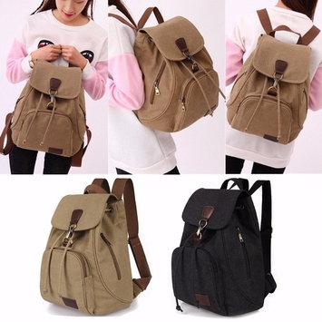 Women Men Canvas Backpack Travel Outdoor Rucksack Shoulder School Bag Satchel