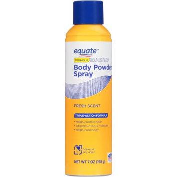 Wal-mart Stores, Inc. Equateâ ¢ Fresh Scent Body Powder Spray 7 oz. Aerosol Can