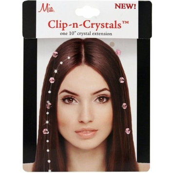 Mia Clip-n-Crystals-Beautiful, Sparkly, Shiny Ornaments For The Hair-Pretty, Metallic Gold Crystals On A Transparent Filament String-Gives Floating Illusion []