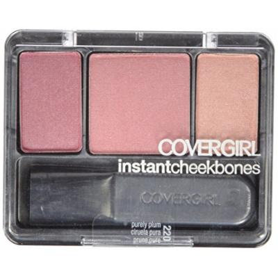 CoverGirl Instant Cheekbones Contouring Blush - Purely Plum 220 (Pack of 3)