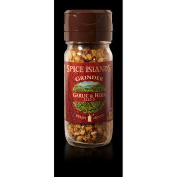 Spice Islands Grinder Garlic & Herb Blend Seasoning Fresh Ground 2.2 Oz. (Pack of 2)