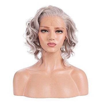 ALICE Lace Front Wig Short Silver Grey Wig 14