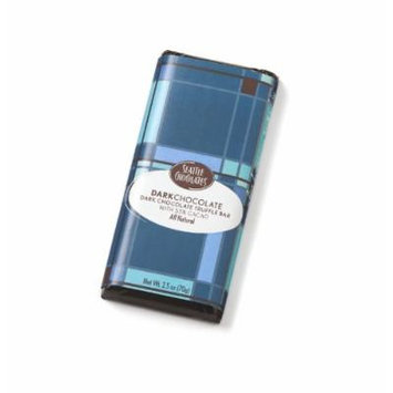 Seattle Chocolates Bar, Dark Chocolate, 2.5 Ounce (Pack of 12)