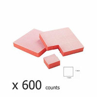 For Pro Tearable Mini Block File, Orange, 150 Count (600 counts)