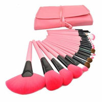 Top Quality 24Pcs Pink Makeup Brush Set Cosmetic Brushes Including a Deluxe Bag! (Pink)
