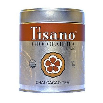 Tisano Organic Chai Spice Cacao Tea - Loose Leaf - 04oz [Organic Chocolate Chai Spice]