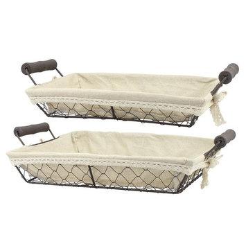 Stonebriar Collection 2-piece Wire Basket Set
