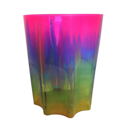 "Infusion Plastics 11.5"" Waste Basket - Pink"
