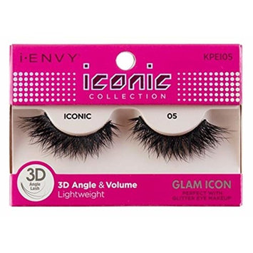 Kiss I Envy Iconic Collection Lashes #05 3D Angle & Volume (Glam) (6 Pack)
