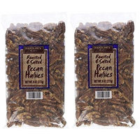 Trader Joe's Roasted & Salted Pecan Halves, 8 oz,(Pack of 2)