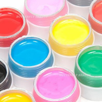 Nail Art 12 Color Solid Pure Uv Gel for Uv Builder Lamp Brush Pen Forms