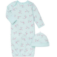 Little Me Baby Girls' 2-Piece Floral-Print Hat & Gown Set