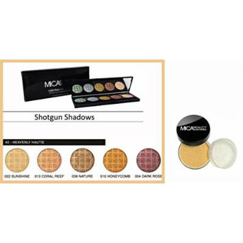 Bundle 3 Items : Mica Beauty Mineral Foundation + Pressed Eye Shadow Palette -#2 Heavenly Hautie +Matching Bronzer (MF1 - PORCELAIN)