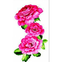 design and hot selling Red peony realistic and fake temp tattoo stickers for women