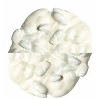 Nassau Candy White Chocolate Almond Bark, 5 Pound