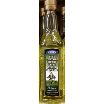 Pampa Pure Vegetable Oil and Extra Virgin Olive Oil 14 Oz (Pack of 2)