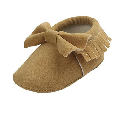 For 0-18 Months,Clode® Cute Baby Crib Tassels Bowknot Moccasins Shoes Toddler Sneakers Casual Shoes Infant Girl Toddler First Walkers Crib Shoe