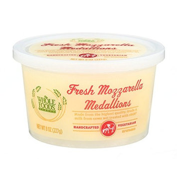 Whole Foods Market, Fresh Mozzarella Medallions, 8 oz