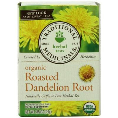Traditional Medicinals Organic Roasted Dandelion Root, 16-Count Boxes (Pack of 6), Garden, Lawn, Maintenance