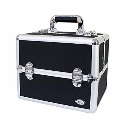 Jacki Design Aluminum Professional Makeup Artist Train Case BSB14118 - Black