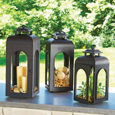 Small Domed Metal Outdoor Lantern