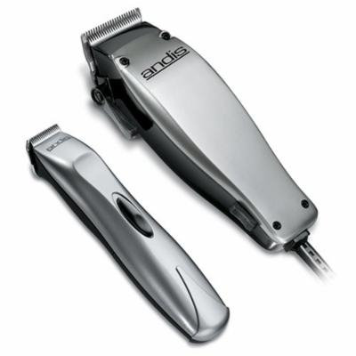Andis Cord/Cordless 23-Piece Hair Clipper/Beard Trimmer Combo Haircutting Kit, Silver, (20140)