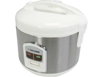 TATUNG TRC-8BD1 White/Stainless 8 Cup Rice Cooker