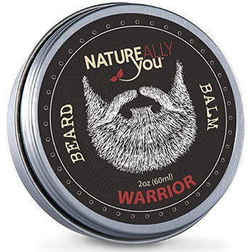 NATUREALLY YOU© - Beard Balm - Warrior Scent - (2 oz) - Condition, Smooth, Soften, Tame, Remove Beard Itch