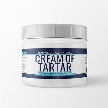 Earthborn Elements Cream of Tartar, (2 lb), Resealable Tub, Highest Purity, Baking Additive, Non-GMO, Kosher, Gluten-Free, All-Natural, DIY Bathbombs, Mess Free