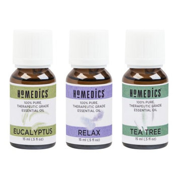 Homedics Essential Oils 3 pk. eucalyptus tea tree relax blend