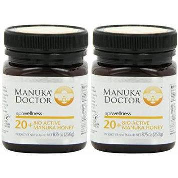 Manuka Doctor Bio Active Honey, 20 Plus, 8.75 Ounce (2 Pack)