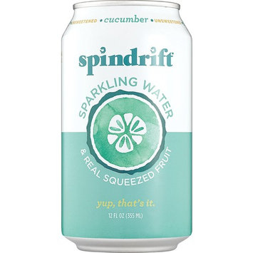 Spindrift Cucumber Sparkling Water, 12-Fluid-Ounce Cans, Pack of 24 [Cucumber]