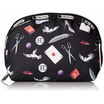 LeSportsac Medium Dome Cosmetic Case, Love Letters, One Size