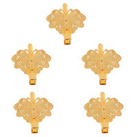 Dovewill 5x Vintage Hair Jewelry Mental Hair Clips Floral Butterfly Shaped Hairpins A