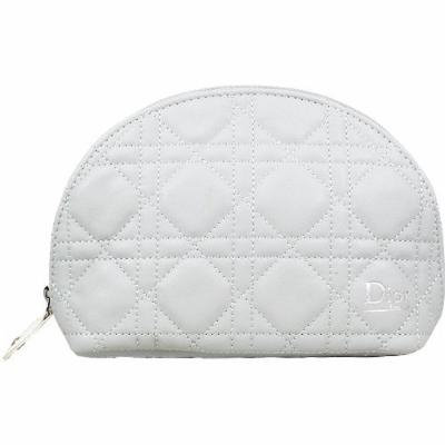 Dior CD Light Grey Cosmetic Makeup Bag