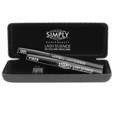 Best 3D Fiber Lash Mascara by Simply Naked Beauty. Last All Day, waterproof, smudge proof & hypoallergenic ingredients. non-toxic and natural. Midnight Black