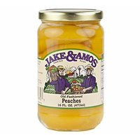 Jake & Amos Old-Fashioned Canned Peaches, 16 Oz. Jar (Pack of 2)