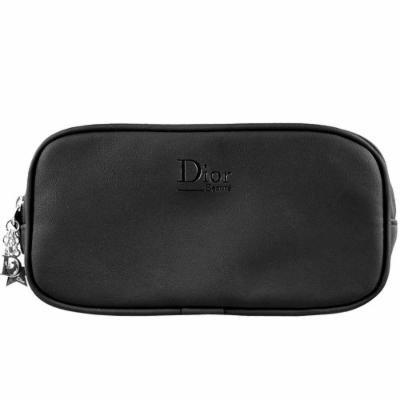 Dior Black Artificial Leather Cosmetics Bag