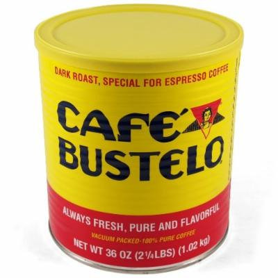 Bustelo 36 Ounce Dark Roast Ground Espresso and Coffee Can, Set of 6