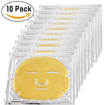 Esport 10 Pieces 24K Gold Bio-Collagen Renewal Facial Mask, Collagen & Elastin Beauty Mask For Anti-Aging, Tighten Skin & Revitalize Skin