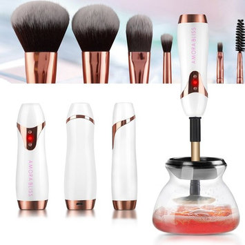 [Amora Bliss] Makeup Brush Cleaner and Dryer, USB Rechargeable Portable Automatic 360 Spinning Rotation Cleaner, Deep Cleans and Dries Brushes in Seconds: Beauty