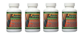 Maritzmayer Laboratories African Mango Cleanse Weight Loss Detox 60 Capsules Per Bottles (4 Bottles)