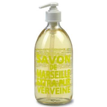 Compagnie de Provence Savon de Marseille Extra Pure Liquid Soap - Fresh Verbena - 16.9 Fl Oz Glass Pump Bottle [Fresh Verbena]
