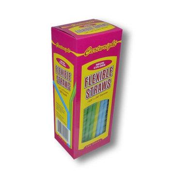 Cartwright 12/100ct. Flexible Neon Straws - Box