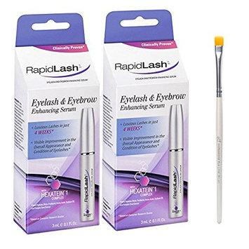 Rapidlash Eyelash and Eyebrow Serum 3ml /0.1 Fl Oz (2 Pack) With FREE Eyeliner Brush