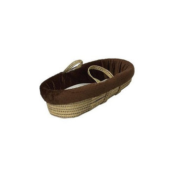 Babydoll Heavenly Soft Moses Basket, Brown