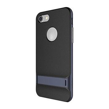 iPhone 7 Case, [4.7 inch]LUNIWEI Hybrid Gold Hard Bumper Soft Rubber Hoder Case Cover Skin