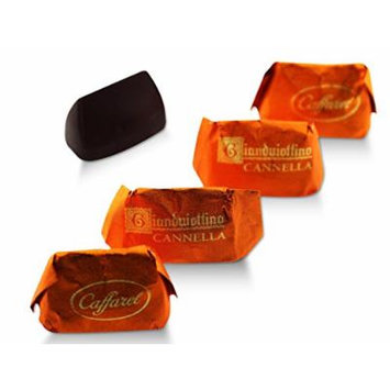Caffarel, Mini Cinnamon Gianduitto Smooth Dark Chocolate Gianduia And Piadmontese Hazelnuts In Orange Wrapper (80 pcs)