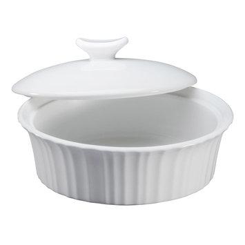 Corningware French White III 24oz dish with ceramic cover