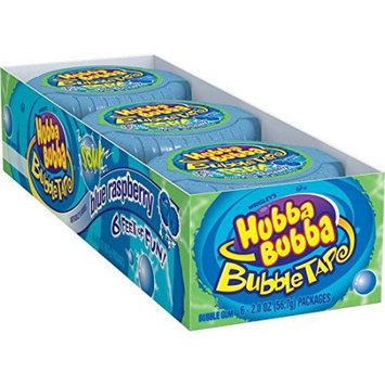 Hubba Bubba Bubble Tape Gum Sour Blue Raspberry, 2 Oz (Innerpack of 12)